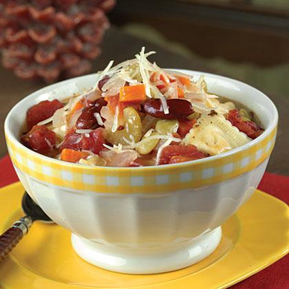 3-Bean Ravioli Minestrone Recipe