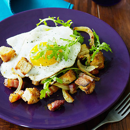 Roasted Fennel, Egg, and Pancetta Panzanella
