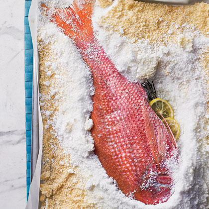 Salt-Roasted Whole Red SnapperRecipe