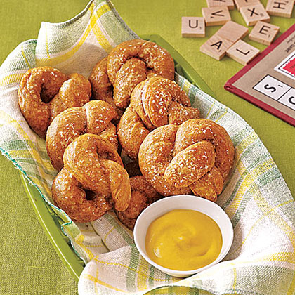 Soft Pretzels RecipeEnjoy two soft, bready pretzels for under 100 calories. We love these topped with coarse salt but get creative and experiment with different toppings like cinnamon-sugar or Parmesan cheese.