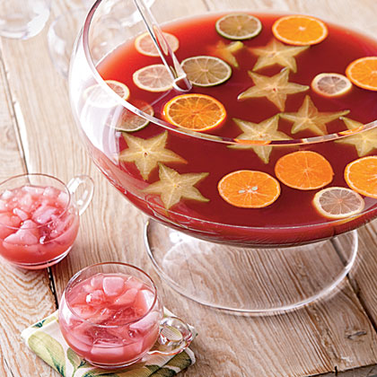 This make-ahead punch is great to serve to a large crowd. If rum doesn't float your boat, replace it with vodka.Tradewind Punch Recipe