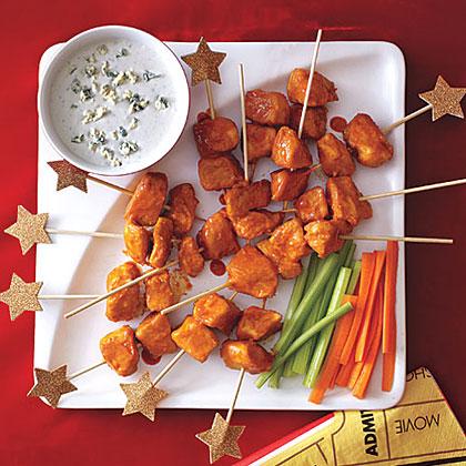 Buffalo Chicken Skewers Recipe | MyRecipes