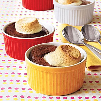 Marshmallow-Topped Chocolate Pudding CakesRecipe
