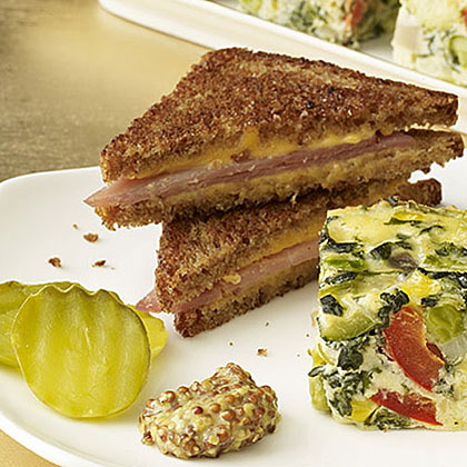 Mini Grilled Ham-and-Cheese Sandwiches Recipe