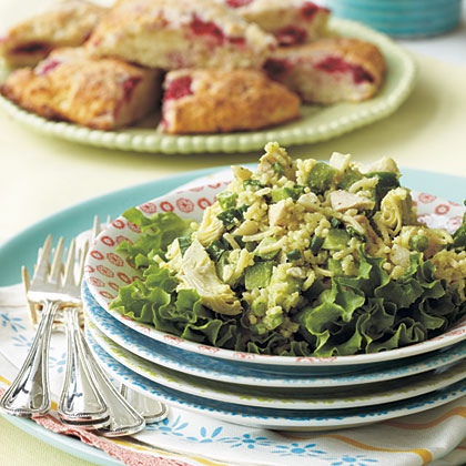 Chicken, Artichoke, and Rice Salad RecipeThis Chicken, Artichoke, and Rice Salad combines ingredients from your pantry with a few fresh veggies for a main dish salad that is sure to be a crowd pleaser.