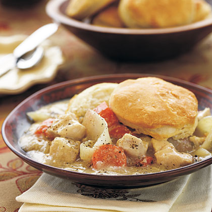 Chicken Stew with Biscuits
