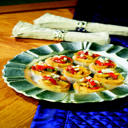 Birds Eye® Bruschetta with Caramelized Peppers & Onions with Goat Cheese  RecipeA quick & easy party favorite sure to impress even the pickiest guests.