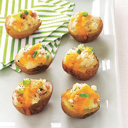 Ham and Cheddar Potato Skins