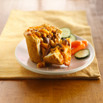 Chili Mac Pasta Pies
