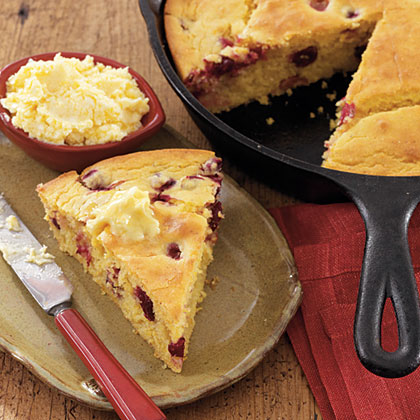 Cranberry Orange Cornbread with Orange  Butter