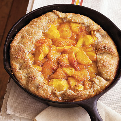 Rustic Spiced Peach Tart With Almond Pastry Recipe Myrecipes