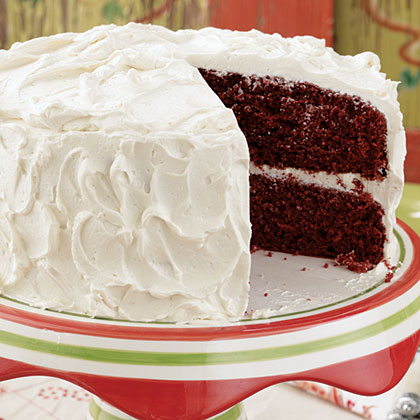Red Velvet Cake RecipeIndulge in one of the season's most treasured cakes. Our rich, creamy, and smooth Red Velvet Cake recipe will serve as a beautiful tablescape as well as a beloved Christmas Eve dessert tradition.