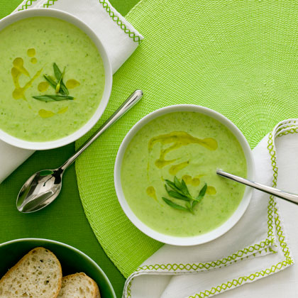 <p>Avocado Pea Soup With Herb Oil</p>