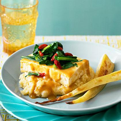 Miso-Glazed Tofu with Parsnips Two Ways
