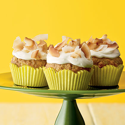 Tropical Banana Cupcakes
