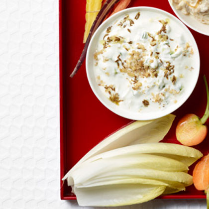 <p>Cucumber-Walnut Raita</p>