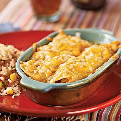 Green Chile-Chicken Enchiladas Recipe