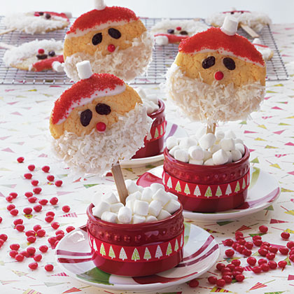 Santa Claus Cookie Pops Recipe