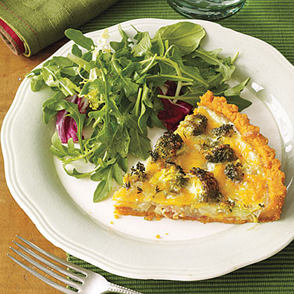 Broccoli-Sweet Onion-Cheese Tart Recipe