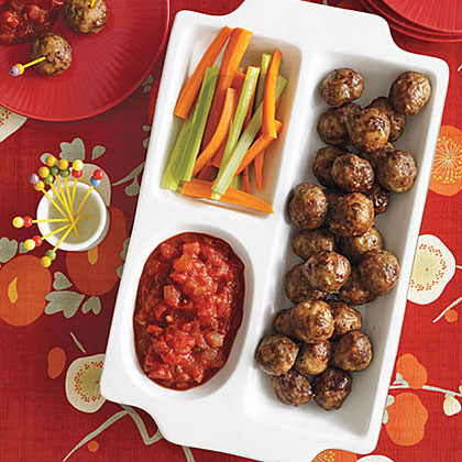 Herbed Cocktail Meatballs with Chunky Tomato SauceRecipe