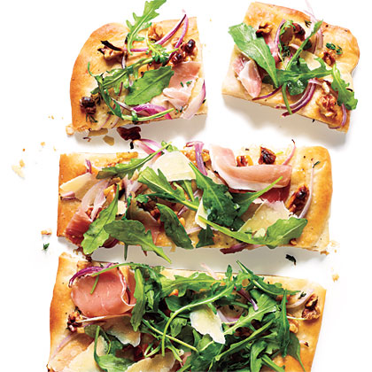 Prosciutto and Cheese Tartine