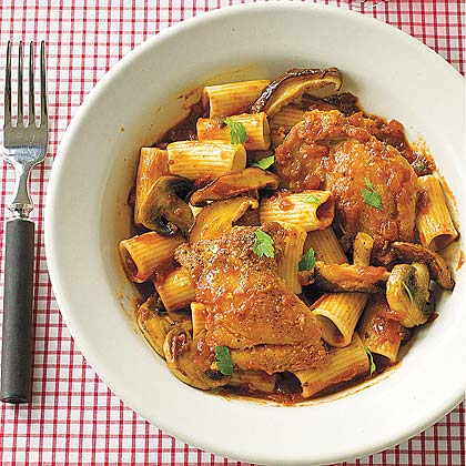 Chicken Cacciatore with Rigatoni