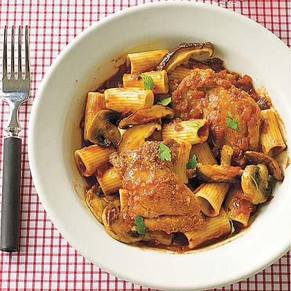 Chicken Cacciatore with Rigatoni
