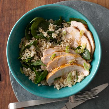 <p>Brown Rice Bowl With Turkey</p>