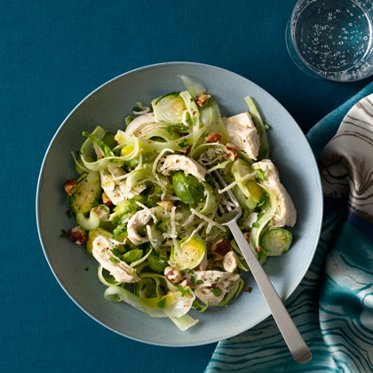 <p>Chicken Breast With Shaved Brussels Sprouts</p>