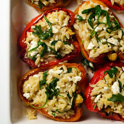 <p>Orzo-Stuffed Peppers</p>
