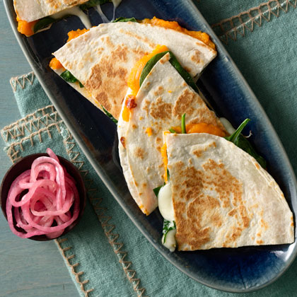 <p>Sweet Potato and Spinach Quesadillas</p>