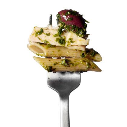 <p>Tuna and Olive Pasta Salad</p>