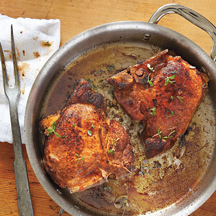 Andouille-Stuffed Pork Chops Recipe