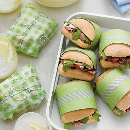 Beef-and-Arugula Ciabatta Sandwiches