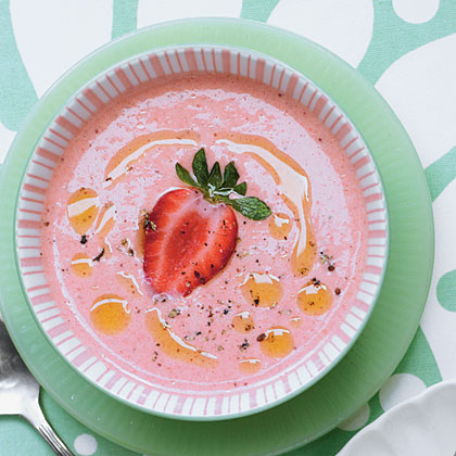 Chilled Strawberry Soup Recipe | MyRecipes