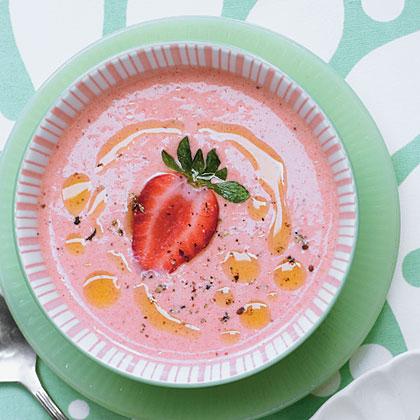 Chilled Strawberry Soup Recipe | MyRecipes