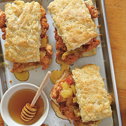 Fried Chicken Thighs & Biscuits