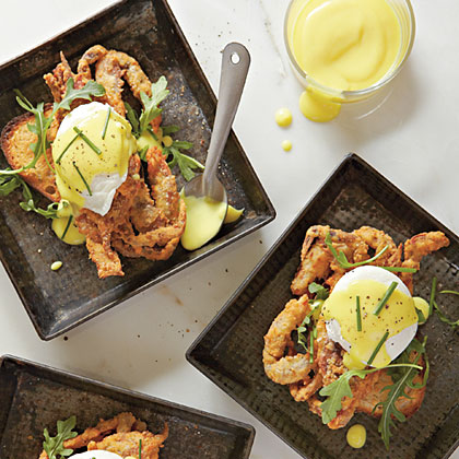 Fried Soft-Shell Crabs Benedict