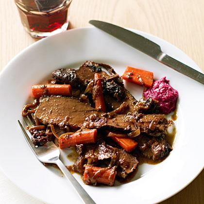 Red Wine and Onion-Braised Passover BrisketRecipe