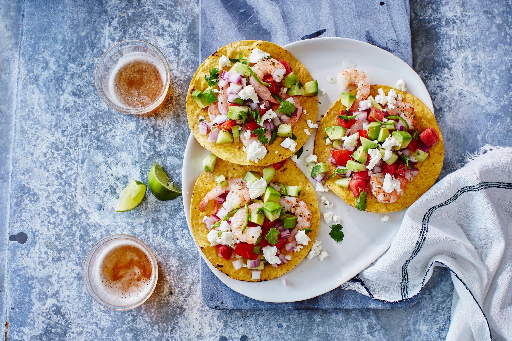"Shrimp ""Ceviche"" Tostadas Recipe 