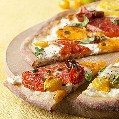 Tomato-Ricotta Pizza Recipe