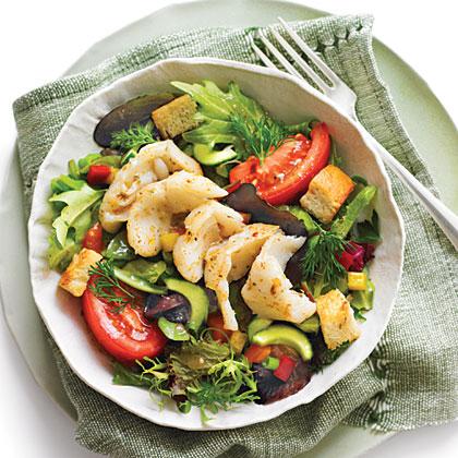 Greek Salsa Salad with Grouper