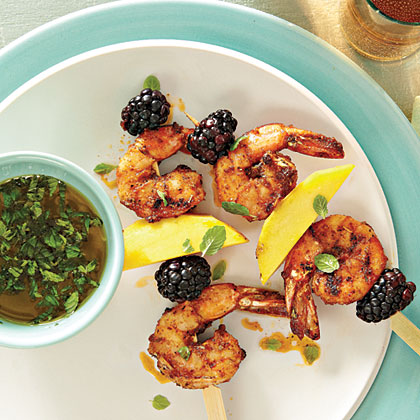 Grilled Blackened Shrimp Skewers