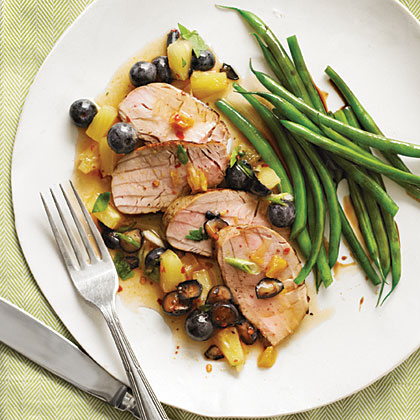 Jerk Pork Tenderloin with Blueberry SalsaRecipe
