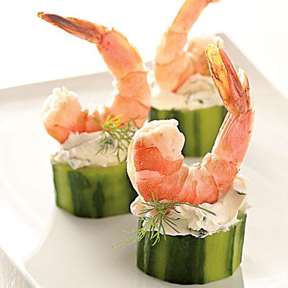 Shrimp in Cucumber Cups Recipe