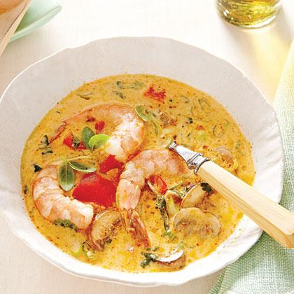 Spicy Coconut Shrimp Soup Recipe