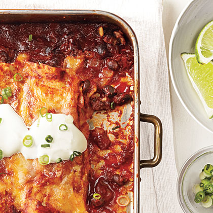 Beef and Black Bean EnchiladasRecipe