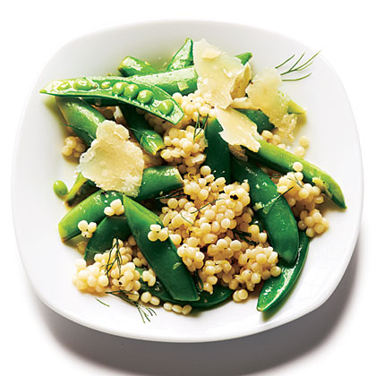 Israeli Couscous and Dill Snap PeasRecipe