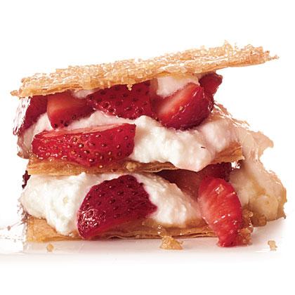Ricotta-Strawberry Napoleons