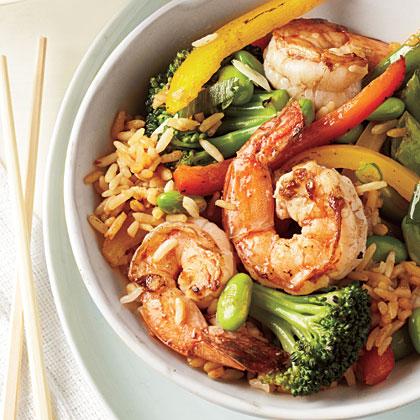 Shrimp fried rice recipe myrecipes for Asian cuisine grimes